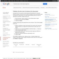 Création d'un lien vers le contenu d'un document - Centre d'aide Google Drive