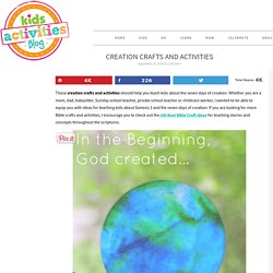 Creation Crafts and Activities