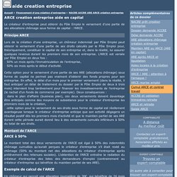 ARCE creation entreprise aide en capital
