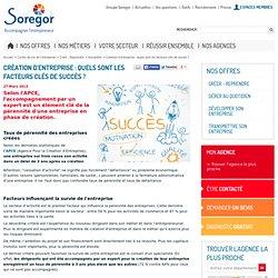 Création d'entreprise : facteurs clés de succès