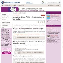 Création d'une EURL : les avantages du statut