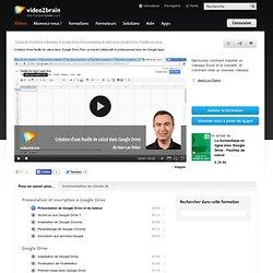 Création d'une feuille de calcul dans Google Drive
