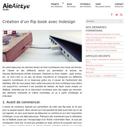 Création d'un flip book avec Indesign
