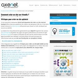 Création de site seo-friendly : infographie