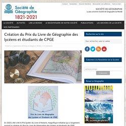 Création du Prix du Livre de Géographie des lycéens et étudiants de CPGE