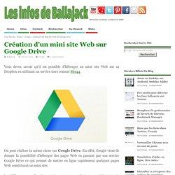 Création d'un mini site Web sur Google Drive