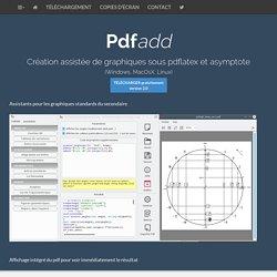 PdfAdd : Création assistée de graphiques sous pdflatex et asymptote