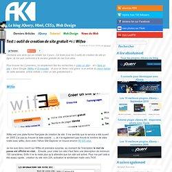 Test : outil de création de site gratuit #1 : Wiféo