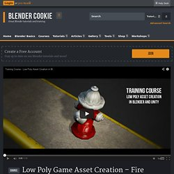 Low Poly Game Asset Creation - Fire Hydrant in Blender and Unity 3D