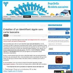 Création d'un identifiant Apple sans carte bancaire