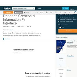 Forme Et Flux de Donnees Creation d Information Par Interface