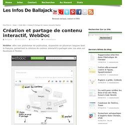 Création et partage de contenu intéractif, WebDoc
