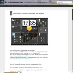 Ma maison domotique: Création d'une interface graphique avec MyVera