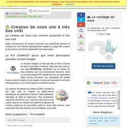 Création de votre site Internet asociatif