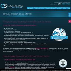 Nos tarifs de création de sites internet: e-commerce, vitrine, mobiles