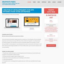 Création site internet - Tarifs site web - Graphiste Paris