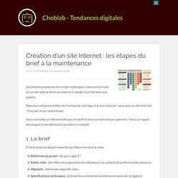 Création d'un site Internet : les étapes du brief à la maintenance