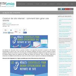 Création de site internet : comment bien gérer une refonte - Synomia