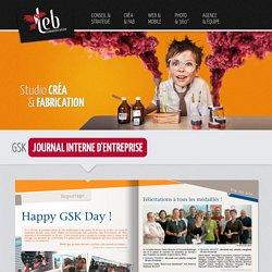 Studio de création - Création de journal d'entreprise - GSK