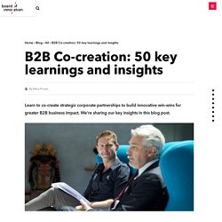 B2B Co-creation: 50 key learnings and insights