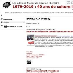 Atelier de cr ation libertaire - BOOKCHIN Murray