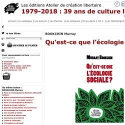 Atelier de création libertaire - Qu'est-ce que l'écologie sociale?