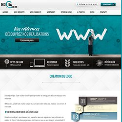 Création de logo avec notre agence web HDClic