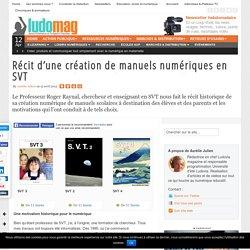 Récit d'une création de manuels numériques en SVT