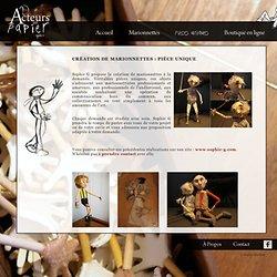 Création de marionnette : pièce unique