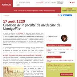 17 août 1220 - Création de la faculté de médecine de Montpellier