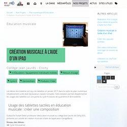 Création musicale à l'aide d'un iPad
