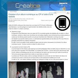 Création d'un album numérique au CP à l'aide d'une tablette