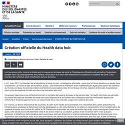 Création officielle du Health data hub