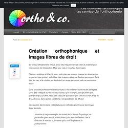 Création orthophonique et images libres de droit