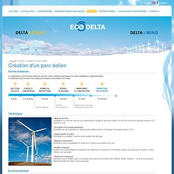 Création d'un parc éolien - ECO DELTA DEVELOPPEMENT