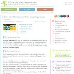 Création et partage de BD en ligne avec Pixton