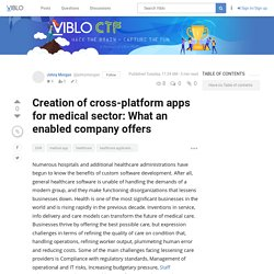 Know about cross-platform apps for medical sector