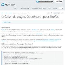 Création de plugins OpenSearch pour Firefox