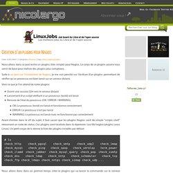 Creation d'un plugins pour Nagios
