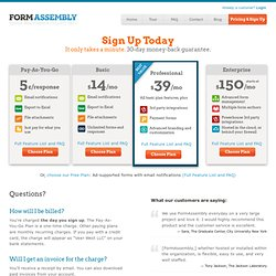 Web Form Creation & Processing Service Pricing