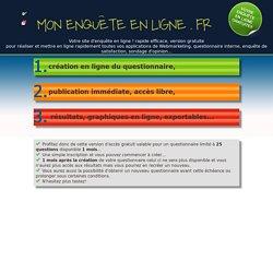 www.mon-enquete-enligne.fr site de création d'enquête, et questionnaire en ligne gratuit