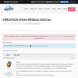 Création d'un réseau social - WPFR