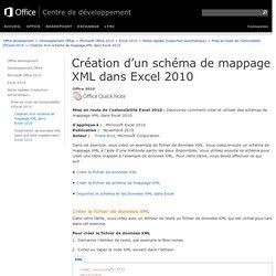 Création d'un schéma de mappage XML dans Excel2010