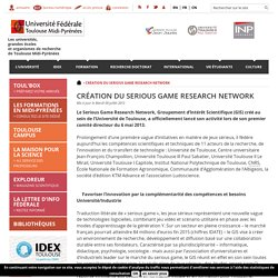 Création du Serious game research network