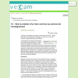 Vecam - 14 - Vers la création d'un bien commun au service de l'enseignement