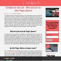 Création de site : Les sites Pages Jaunes sont-ils une arnaque