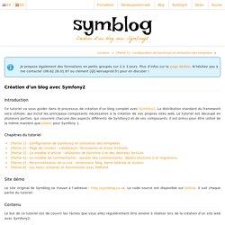 Création d'un blog avec Symfony2 — Symblog - Un tutoriel Symfony2
