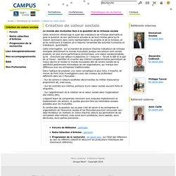 Création de valeur sociale / Thématiques de recherche / Accueil - Campus Lab