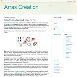 Arras Creation: Indian Traditional Jewelry Designs For You
