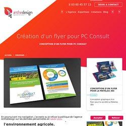 Création d'un flyer pour PC Consult